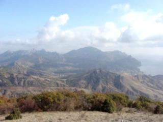 Вид с вершины Эчки-Дага