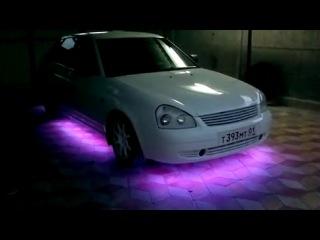 Подсветка днища авто RGB лентой