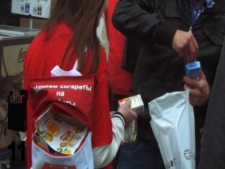 акция Российского Союза Молодежи Меняем сигареты на конфеты