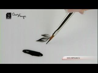 Кисть кинжалообразная для дизайна ногтей