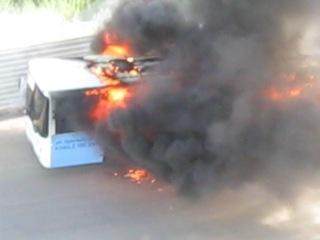 Взрыв автобуса на Плющихинском ж/м г.Новосибирск