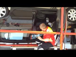 Тест на опрокидывание автомобиля