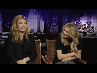 » Chloe Grace Moretz And Michelle Pfeiffer Interview -- Dark Shadows