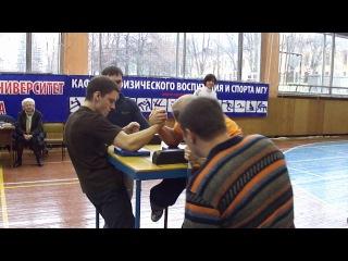 22 чемпионат МГУ по армрестлингу. мужчины. до 60. финал на правую