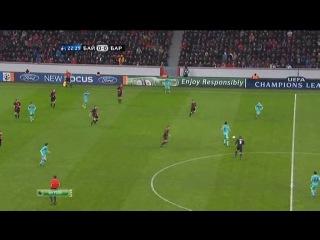 Weav.Ru=>1 тайм. Лига Чемпионов 2011-12 / 1/8 финала / Первый матч / Байер (Германия) - Барселона (Испания) / НТВ 14.02.2012