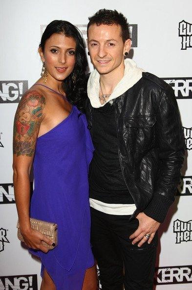 Chester Bennington with his wife Talinda