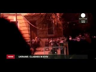 Оператор Euronews пострадал при разгоне на Банковой (01.12.2013)