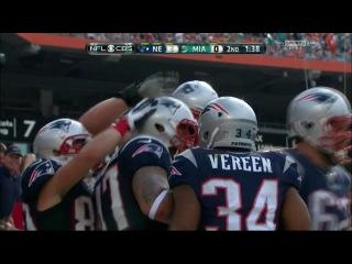 Michael Hoomanawanui 1st TD as a Patriots. vs. Dolphins 15.12.13