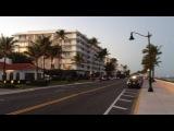 Набережная и пляж в Палм Биче, Флорида. После работы...