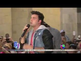Jencarlos Canela cantó la canción del verano de Univision 'I Love it' en El Gordo y la Flaca
