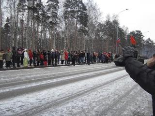 Парад танков в честь 70-летия полного снятия блокады Ленинграда