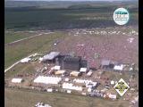 Рок над Волгой 2013 вид с вертолета за 2 часа до выступления Rammstein