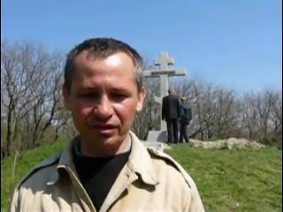 Установка креста в крепости Измаил
