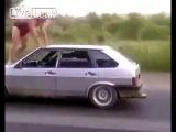 Пьяный русский за рулём