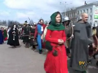 Ледовое Побоище-2008 Парад во Пскове