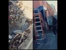 CharlieHunnam Waving at us and the bikes of SAMCRO JaxTeller SOA sonsofanarchy