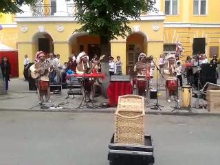 Laramarka - уличные музыканты из Перу