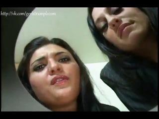 Spitting girls.