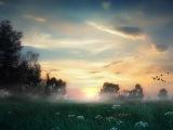 Українська народна пісня. Туман яром, туман долиною