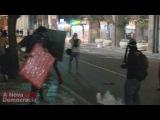 Rio: Manifestantes encurralam a polícia ao som do hino nacional