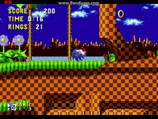 Sonic the Hedgehog (SMD) level 1 speed run by liZ@Rd