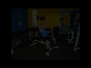 Дельты (плечи) жим гантелей сидя. Лучшее упражнения для развития плеч. Техника выполнения.