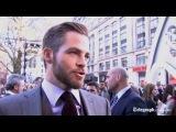 Интервью Криса Пайна с премьеры фильма «Стартрек: Возмездие» в Лондоне (2 мая, 2013)