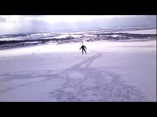 Мой полёт на дельтаплане 2-й в своей жизни!)