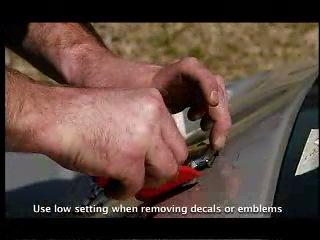 Удаление эмблемы с автомобиля при помощи индукционного нагревателя Автотрон 3300-3 (Autotron 3300-3)