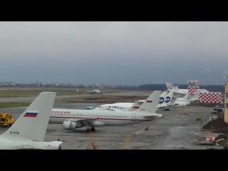 Смотреть взлет посадка самолетов видео