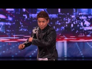 Танцор японец на шоу «Америка ищет таланты». Американская минута славы