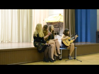 Выступление Елизаветы Жаворонковой и Виктории Гречихиной на концерте, посвященный Новому году 2014)