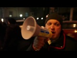 Факельное шествие Свободы в Киеве 01.01.2014. Поджог гостиницы Премьер Палас.