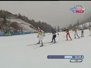 Олимпиада 2006. лыжи. женщины. 4*5 км эстафета ( евгения медведева, наталья баранова, лариса куркина, юлия чепалова)