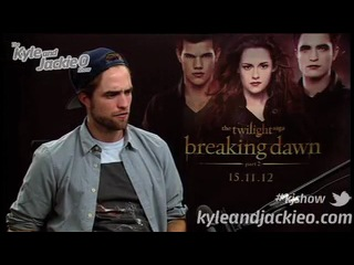 Rob Interview with Kyle and Jackie O from BD2 Sydney Press Junket (part 1)
