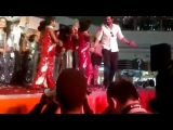 Arjun Rampal and Abhay Deol do a dance on stage, for their promotion.