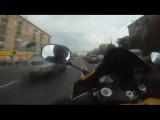 Yamaha R1 Бес вселился в байкера!!!  Москва