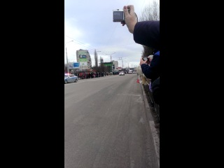 Олимпийский огонь (г.Белгород ул.Губкина возле кин-ра