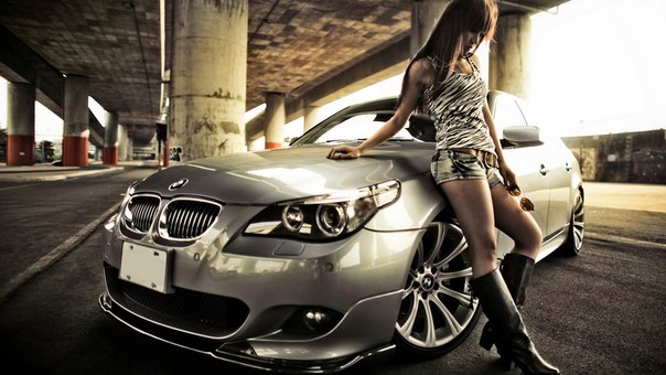 Green Spots Car With Girls Hd Wallpaper: Девушки и Тачки