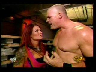 Lita Kane backstage(WWE Raw 02.08.2004)