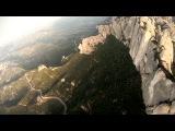 Экстремал-парашютист промчался в костюме белки-летяги сквозь «щель Бэтмена»  250 км/ч