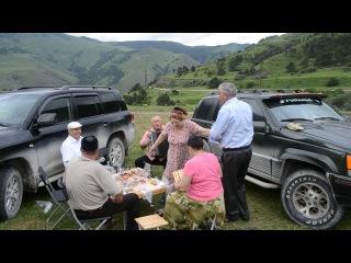 Кавказ. Ингушетия. Песни под баян в горах.