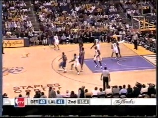 Game 1 Final NBA 2004 Pistons vs Lakers
