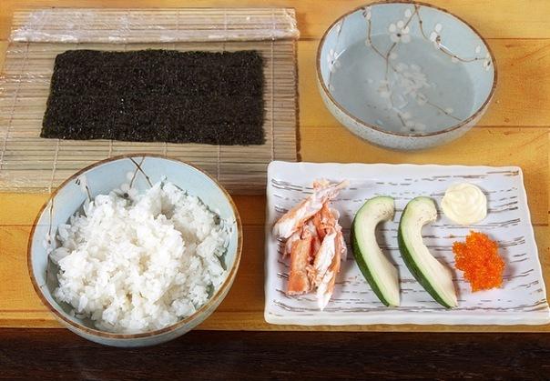 Суши калифорния пошаговый рецепт с фото