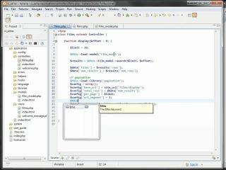 CodeIgniter. День 16: Displaying & Sorting Tabular Data.