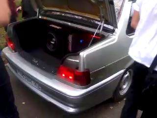 Самбуфер в багажнике и дверях четырнадцатой!Машина нашего учителя ОБЖ