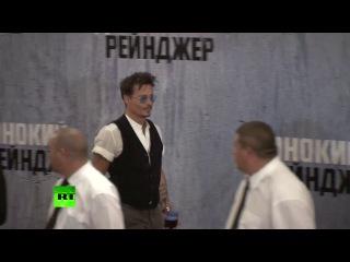 Джонни Депп представил в Москве свой новый фильм