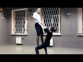 Этюд, парная акробатика