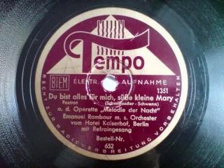 Emanuel Rambour. Du bist alles für mich, süsse kleine Mary. (1938)