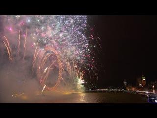 Новогодний фейерверк в Дубае и Лондоне (2014)